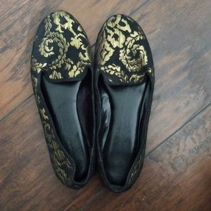 Gold Patterned Cosmo Flats